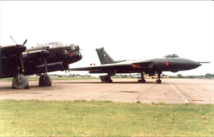 XL426 poses next to the RAF's only other Avro bomber